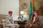 Crown Prince meets British senior defense advisor to the Middle East