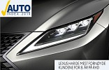 LEXUS WINS AUTOINDEX NORWAY FOR THE 8TH CONSECUTIVE YEAR