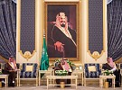 Custodian of the Two Holy Mosques Receives Media Minister and Officials
