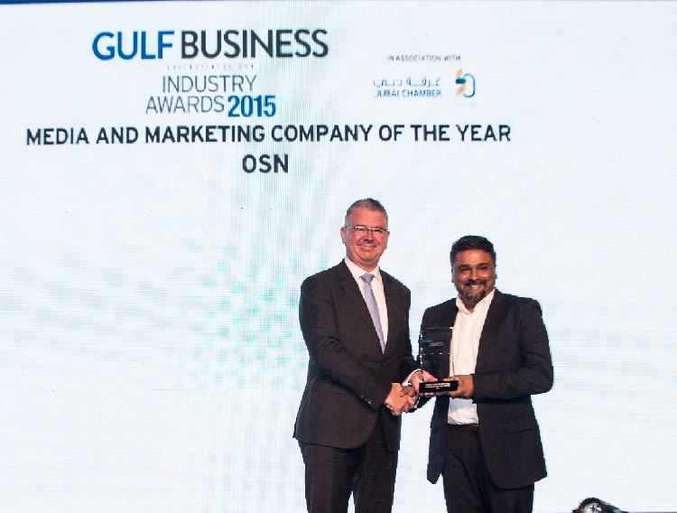 OSN scoops two awards at the Gulf Business Industry Awards 2015