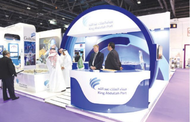 King Abdullah Port's booth at the Seatrade Maritime Mideast expo